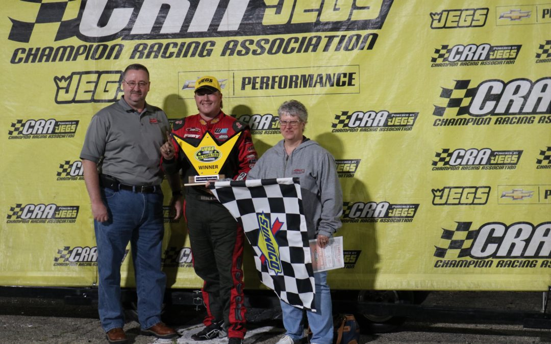 Checkered Flag for Brock at Anderson Speedway